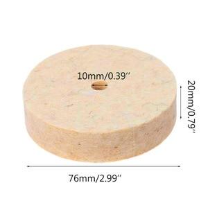 Image 4 - Slijpen Polijsten Buffing Ronde Wiel Pad Wolvilt + 1 Staaf 3.2Mm Schacht Metalen Oppervlak Voor Dremel Rotary Gereedschap accessoires