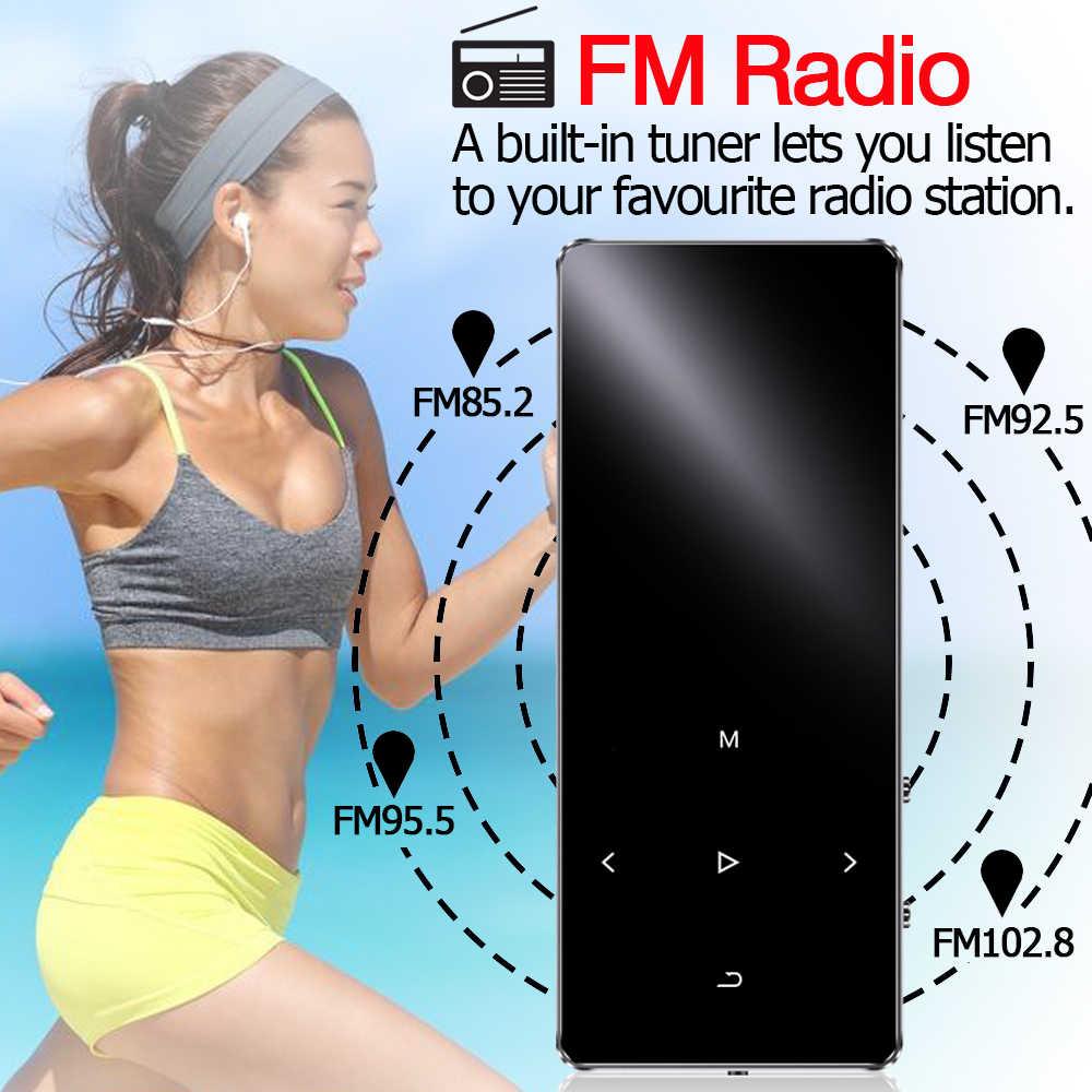 Odtwarzacz MP3 z głośnikiem bluetooth klawisze dotykowe hi fi radio fm mini USB mp3 sport MP 3 odtwarzacz muzyczny HiFi przenośny metalowy walkman