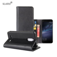KLAIDO Genuine Leather Mobile Phone Case For Leegoo M5 Edge Case Card Slot Full Coverage Flip