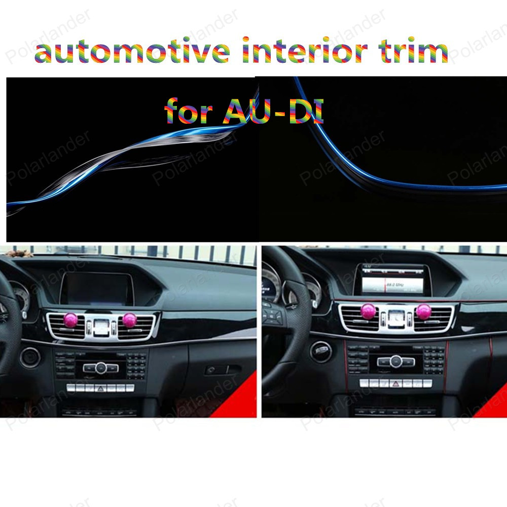 1m/roll Car-Styling DIY Cold Line Flexible Interior Decoration Moulding Trim Strips Car Accessories For Au-di