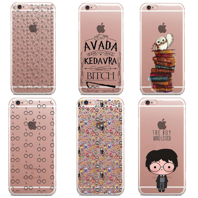 new concept e53da 7fd95 US $1.83 49% OFF|Harry Potter glasses Owl Hedwig Book Soft Silicone TPU  Phone Cases Cover for iPhone 6 6s 5 5s SE 7 7Plus 6S Plus 8 8Plus X 5.8-in  ...