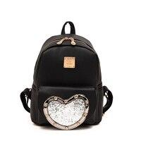 Fashion New Backpack High Quality PU Leather Women Bag Sweet Girl Mini Shoulder Bag Cute Love