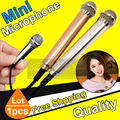 Free Shipping Quality 3.5mm Plug Metal Mini Condenser Microphone Stereo Mic Mike For iPhone Computer Chatting Singing PC Laptop