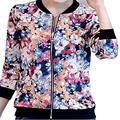O mais novo das mulheres da longo-luva primavera e no outono jaqueta curta jaquetas com zíper casaco feminino outwear roupas da mulher vermelho S