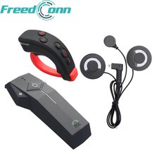 Freedconn COLO-RC Sepeda Motor Helm Bluetooth Intercom Headset NFC Fungsi FM dengan Lembut Earphone + Remote Control(China)