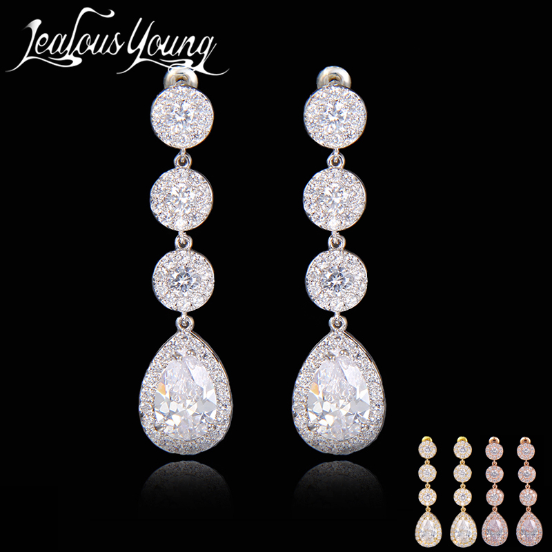 Gift 2017 Top CZ Paved Sweet Dangle Drop Earrings For