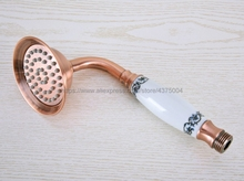 Red Copper Antique Classical Telephone Hand Held Shower Head Bathroom replacement handhand shower Nhh019