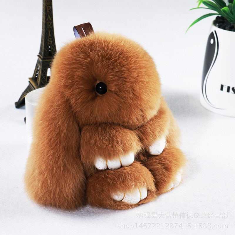 14cm Kawaii Plush Keychain Cute Mini Simulation Easter Bunny Soft Stuffed Animal Toys Easter Rabbit Doll Plush Toys For Children