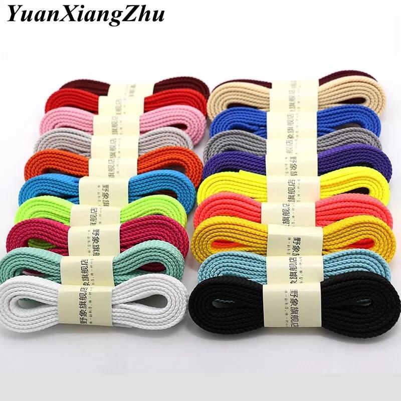 28 Colors A Pair Of  Shoelace Classic Flat Double Hollow Woven Laces 100CM / 120CM / 140CM / 160CM Sports Casual Laces SB-1