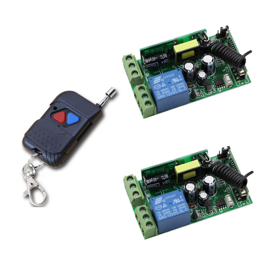 Smart Home AC 85V 110V 120V 220V 250V 1CH 10A Relay RF Wireless Remote Control Switch With Transmitter For Learning Code