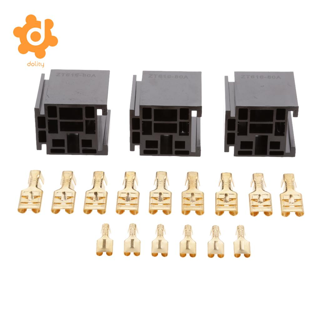 Detail Feedback Questions About 3 Pieces Automotive 80a 5 Pin Relay Prong Pigtail Socket Connector Holder With Terminals On Alibaba Group