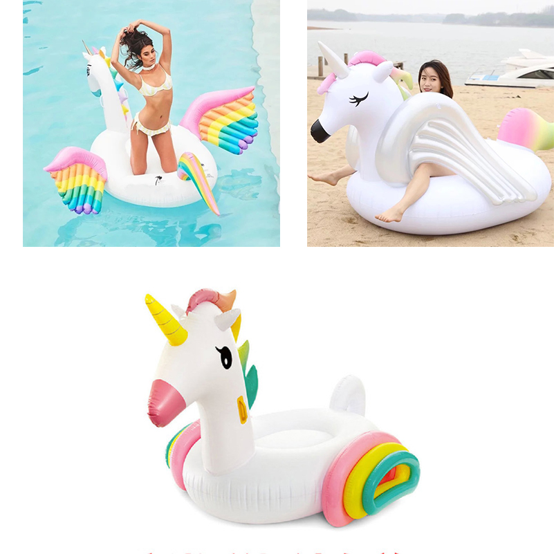 YUYU 2018 New Inflatable Unicorn Giant Pool Floats 250cm Rainbow Pegasus / Horse Water Float Swimming Fun Toy For Adult And Kids