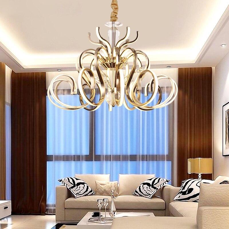 ZX Modernen Luxus Metall Villa Große Pendelleuchte Art ...