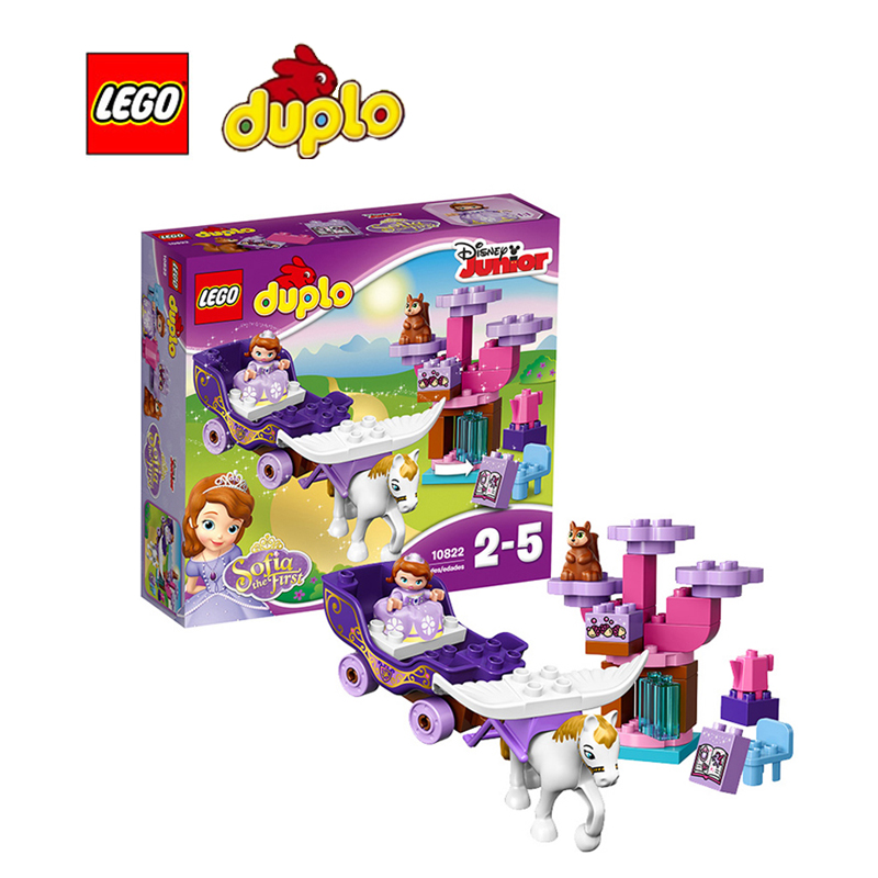 ФОТО LEGO Duplo Sofia the First Magical Carriage Architecture Building Blocks Model Kit Plate Educational Toys For Children LEGC10822