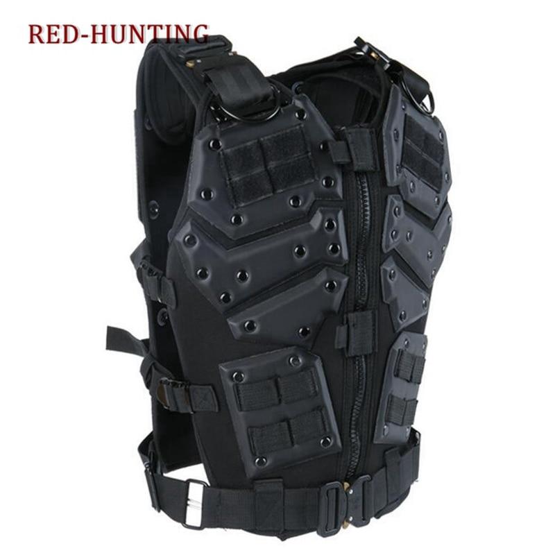 Molle Tactische Vest Combat TF3 Body Vest Protector Black Training Vest - 3