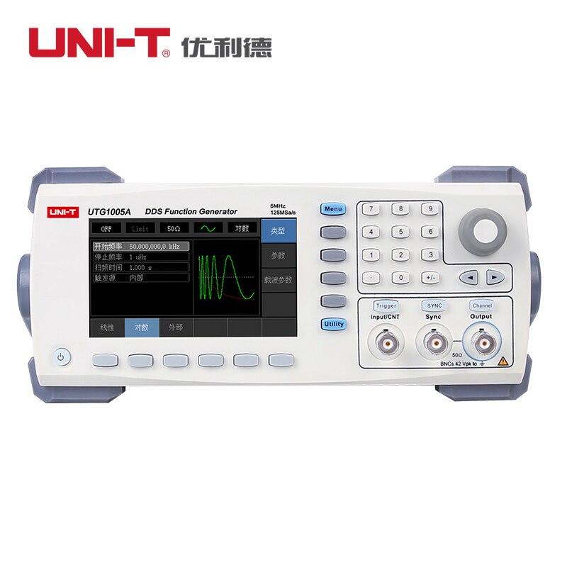 Fonction UTG1005A de UNI-T/générateur de forme d'onde arbitraire/canal unique/bande passante de canal de 5 MHz/taux d'échantillonnage de 125 MS/s