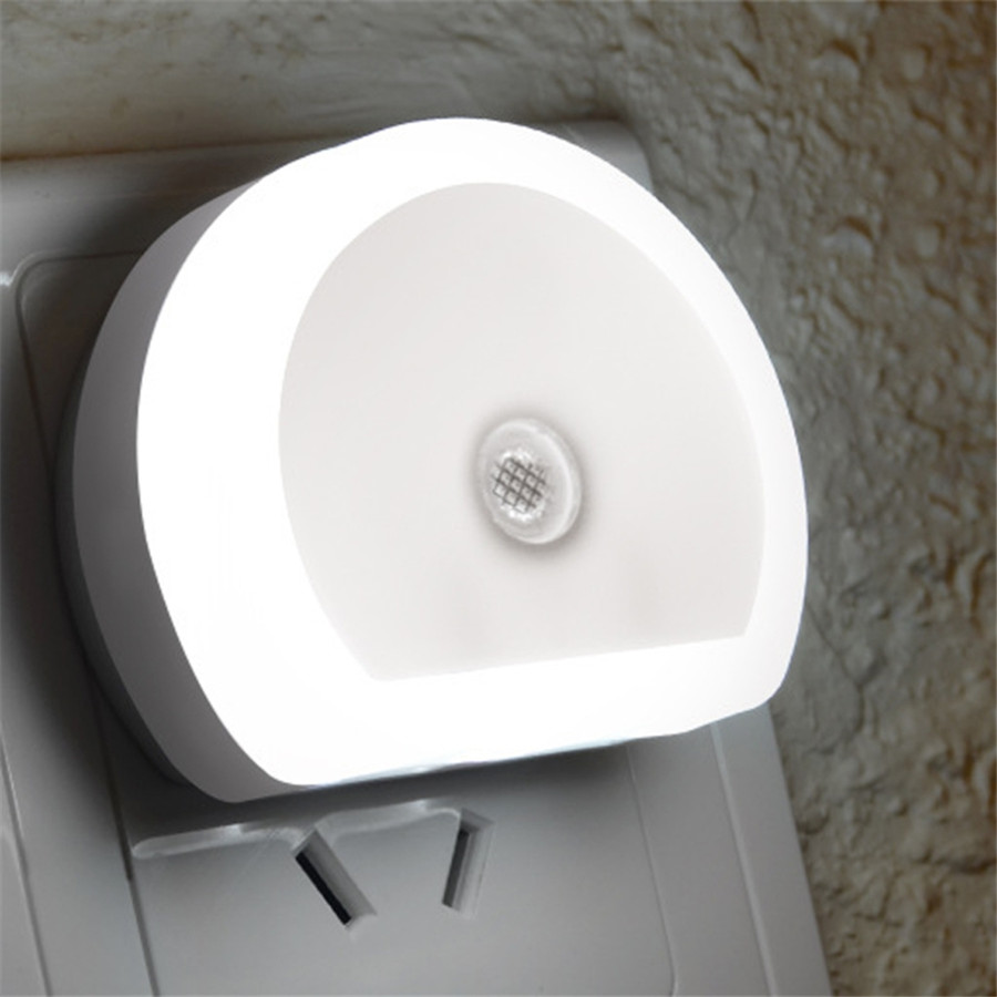 EU/US Plug Mini Led Night Light AC 110-240V Wall Night Lamp With 2 USB Charging Port Sensor Light Bathroom Bedroom Bedside