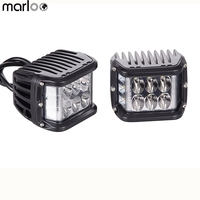 Marloo New 2X 4 Inch LED Cubes Work Lights OffRoad Driving Light Lamps Car Truck ATV SUV Boat 4WD Motorcycle 12V 24V Led Light