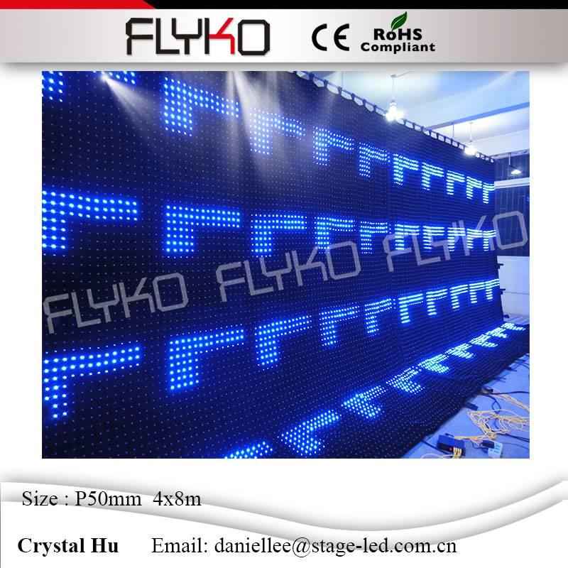 2016 flyko caliente nueva linterna P50mm LED video cortina decoración en  etapa 4x8 m 20a4b827724