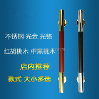 300mm 304 Stainless Steel With Walnut Wooden Door Pull Wooden Door Accessories Hardware TC1028 300