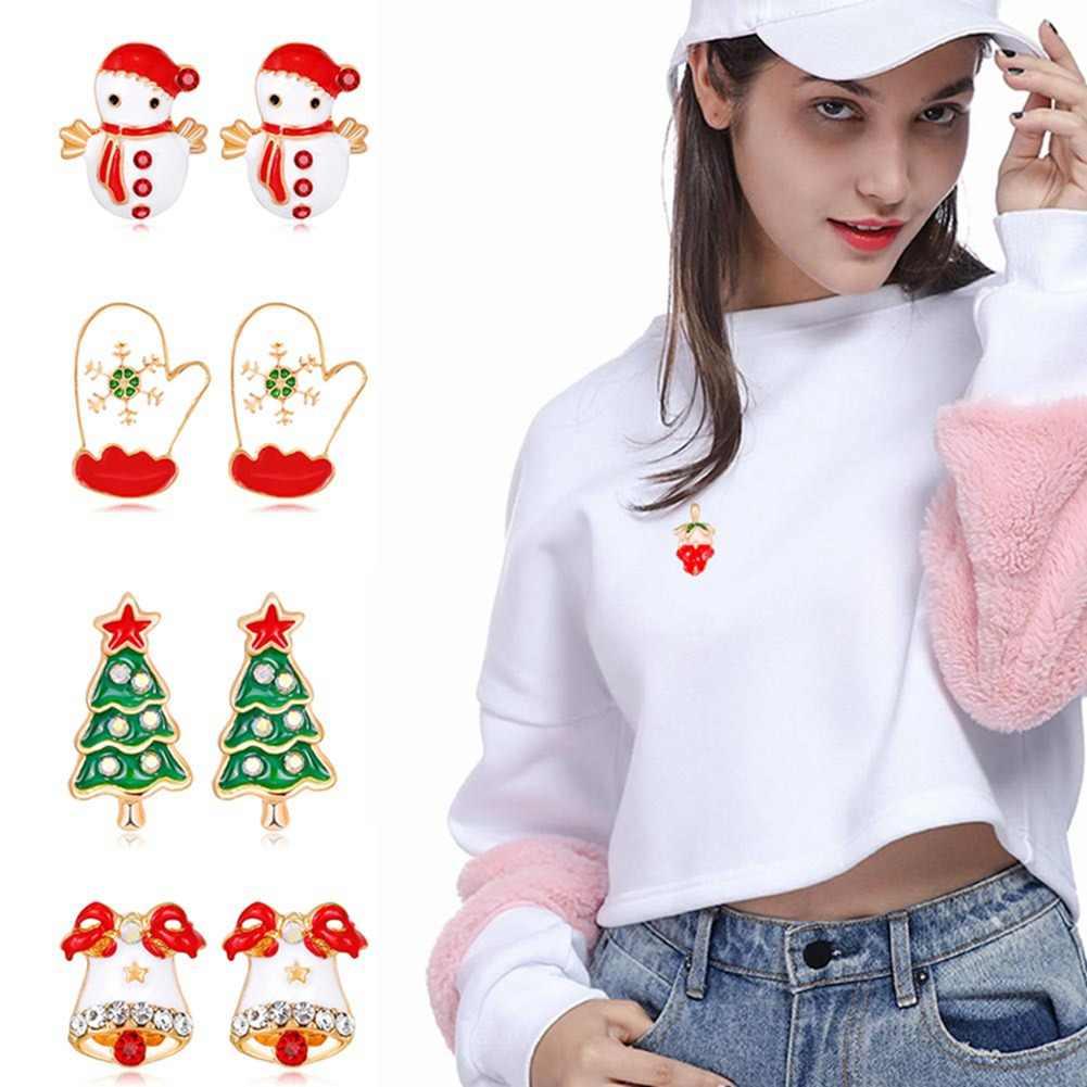 1 Pairs Christmas Earrings Santa Claus Snowman Christmas Tree Fashion Earrings Jewelry Xmas Gift Charm Earrings For Women