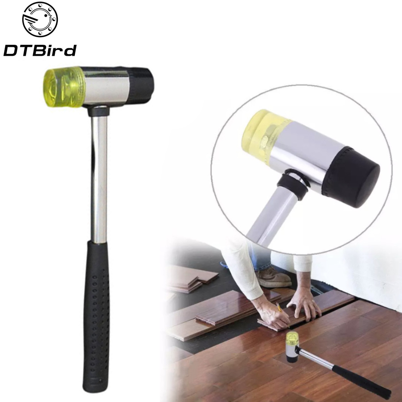 Double Face Soft Tap Rubber Hammer Mallet Leather Tool Soft Mallet US