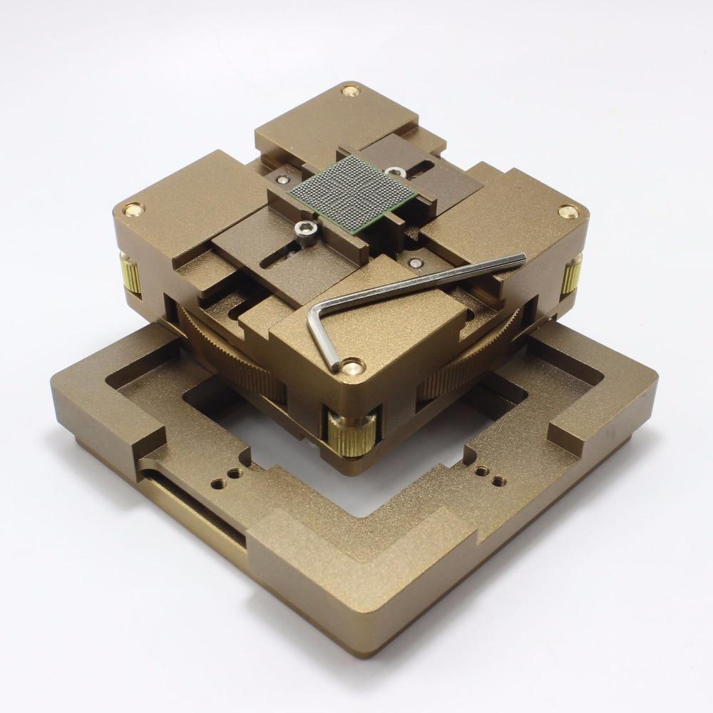 90 мм алюминиевый сплав BGA Reballing станция BGA Reball комплект магнетизм замок мм 10 шт. 90 мм Универсальный Bga трафарет 9 шт. BGA припой шар