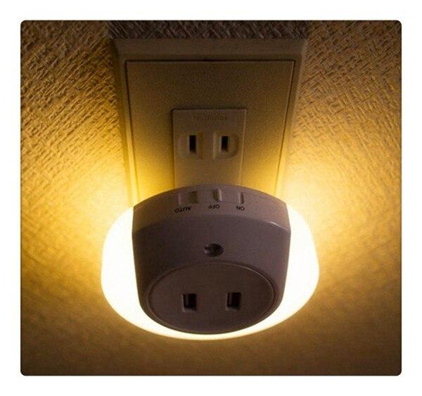 Varm! Smart design LED-nattlampa med ljusgivare och dubbla - Nattlampor - Foto 6