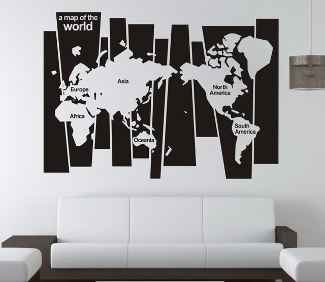 Free shipping world map english quote saying vinyl wall art free shipping world map english quote saying vinyl wall art decal window publicscrutiny Images