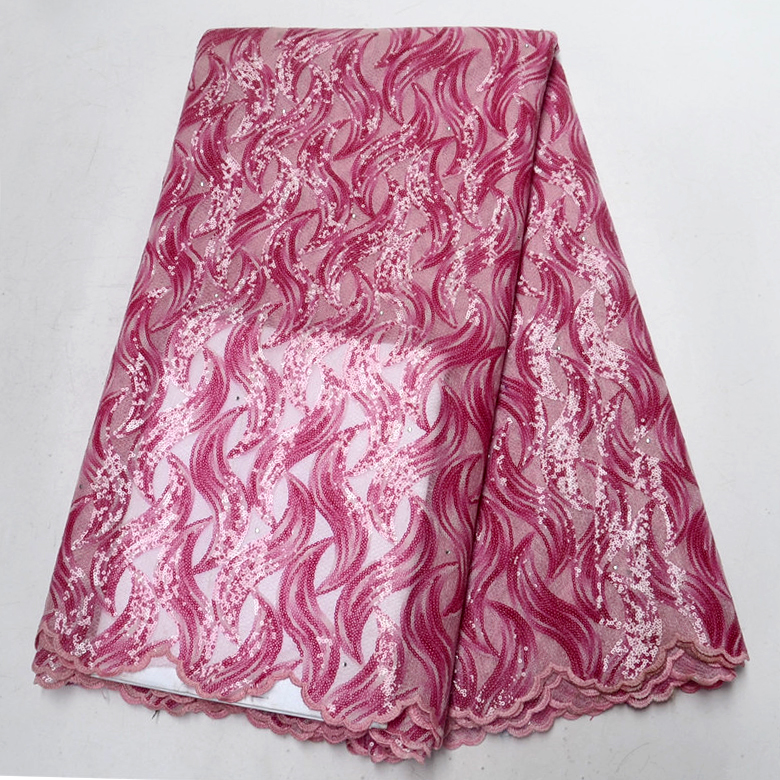 2018 Nigeria African Paillette High Quality Shining Pink Purple sky blue Double Gauze Organza Lace Fabric with Sequins2018 Nigeria African Paillette High Quality Shining Pink Purple sky blue Double Gauze Organza Lace Fabric with Sequins
