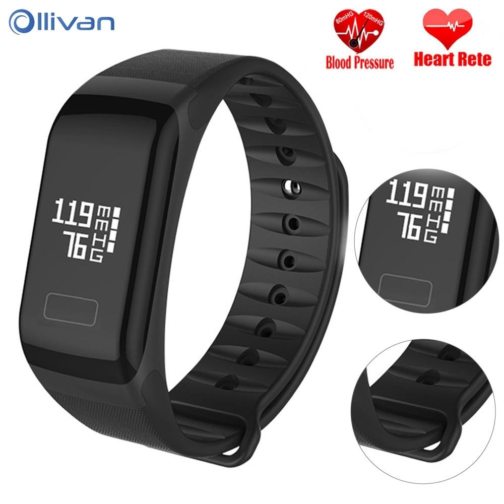 Ollivan Fitness Bracelet Smart Bracelet F1 Blood Pressure Wristband Sport Watch Intelligent Colorful Smart Band LED Touch