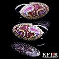 KFLK Luxury 2017 shirt cufflinks for mens Brand cuff buttons enamel cuff links High Quality Art patterns abotoaduras Jewelry
