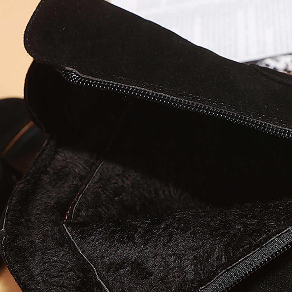 YOUYEDIAN Kadın Ayak Bileği Kısa Patik Orta Tüp Deri Martin Çizmeler Ayakkabı Fermuar Çizme Kadın Ayak Bileği Kısa Patik # a35