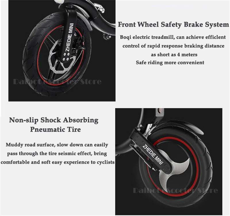Daibot Mini Electric Bicycle Two Wheel Electric Bicycle 14 Inch 350W 36V 32KMH Foldable Portable Adults Electric Bicycle Bike   (12)