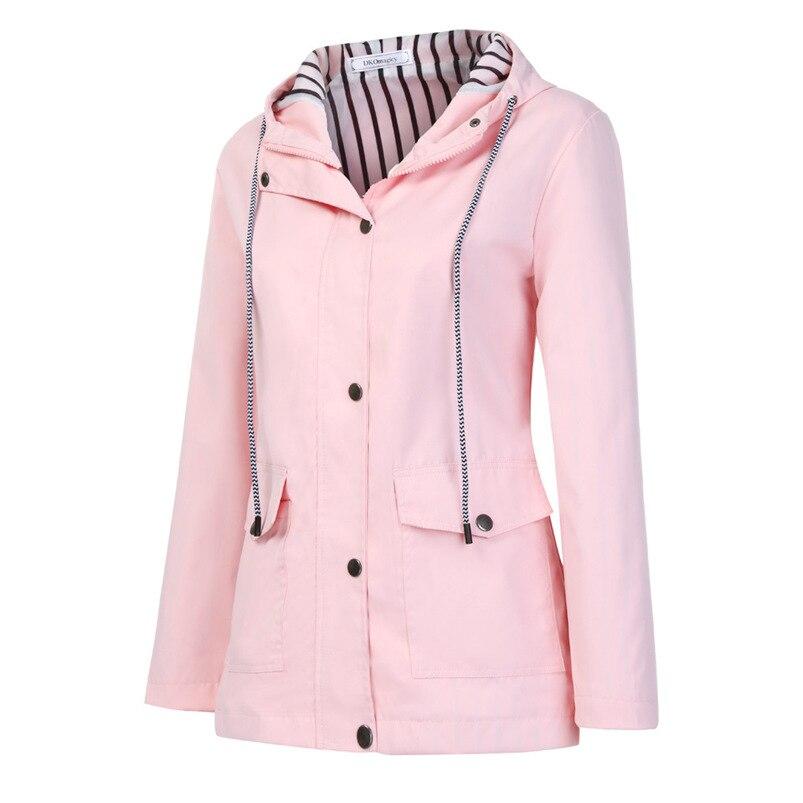 Rain Coat Women Plus Size Coat 2018 Long Sleeve Waterproof Jacket Hooded Raincoat Jacket Women Clothes Warm Coat Girl #O11 (30)