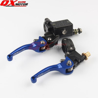 ASV CNC BLUE Folding Brake Lever Clutch Lever With Front Pump Fit Most Motorcycle Dirt Pit