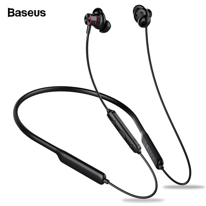 Baseus s12 neckband bluetooth fone de ouvido para o telefone bluetooth 5.0 fones sem fio fone baixo com microfone fone ouvido