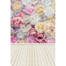 Laeacco Wooden Boards Flowers Wall Baby Scene Child Photography Backgrounds Customized Photographic Backdrops For Photo Studio