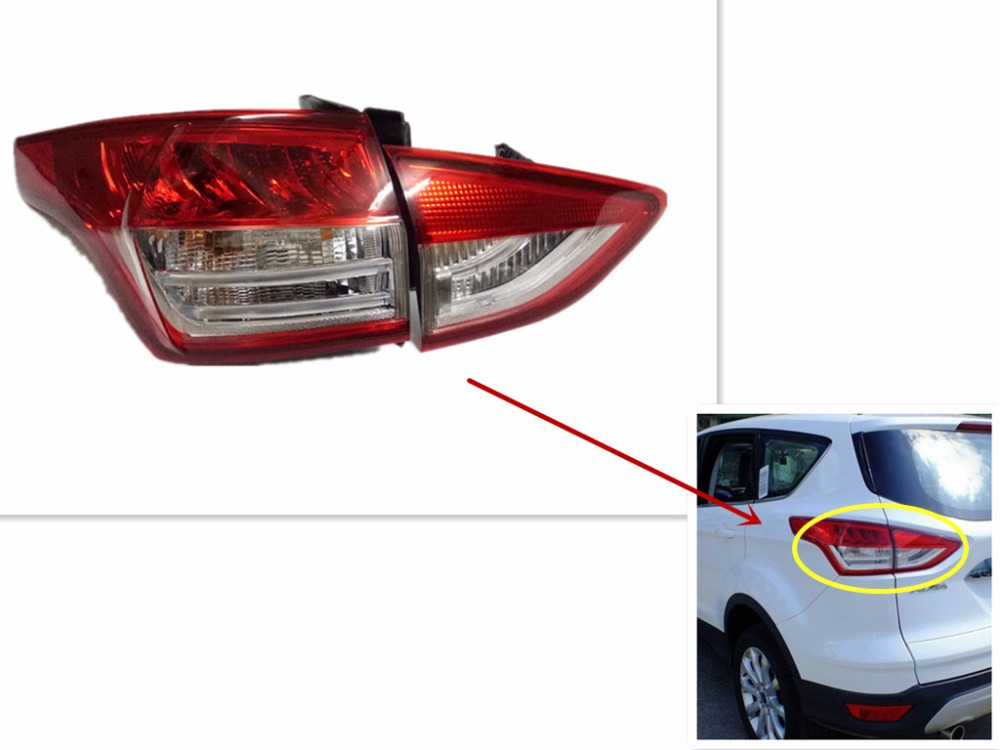 Car Styling Tail Lamp for Ford Kuga Escape 2013 2016 Tail Lights for Kuga LED Tail Light LED Rear Lamp DRL+Brake+Park Stop Lamp