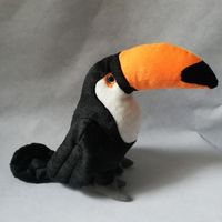 about 26cm cute black toucan bird plush toy soft doll birthday gift d2589