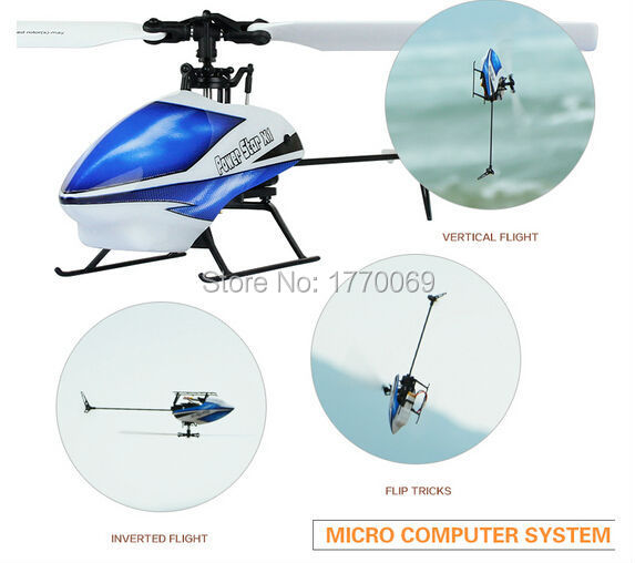 WLtoys V977 2.4G 6CH Brushless Flybarless RC Helicopter BNF(Only Body)+1pcs  Battery+USB Charging