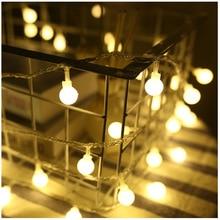 10 м Открытый водонепроницаемый праздничный светодиодный светильник ing струнные Феи гирлянда светодиодный шар струнный светильник s Рождество год вечерние светильник цепи PD039