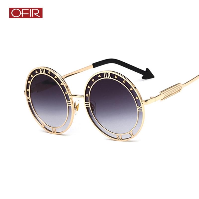172559709929c OFIR Clássicos Óculos De Sol Do Metal Quadro Oval Retro Seta Óculos de Sol  Tempo 2018
