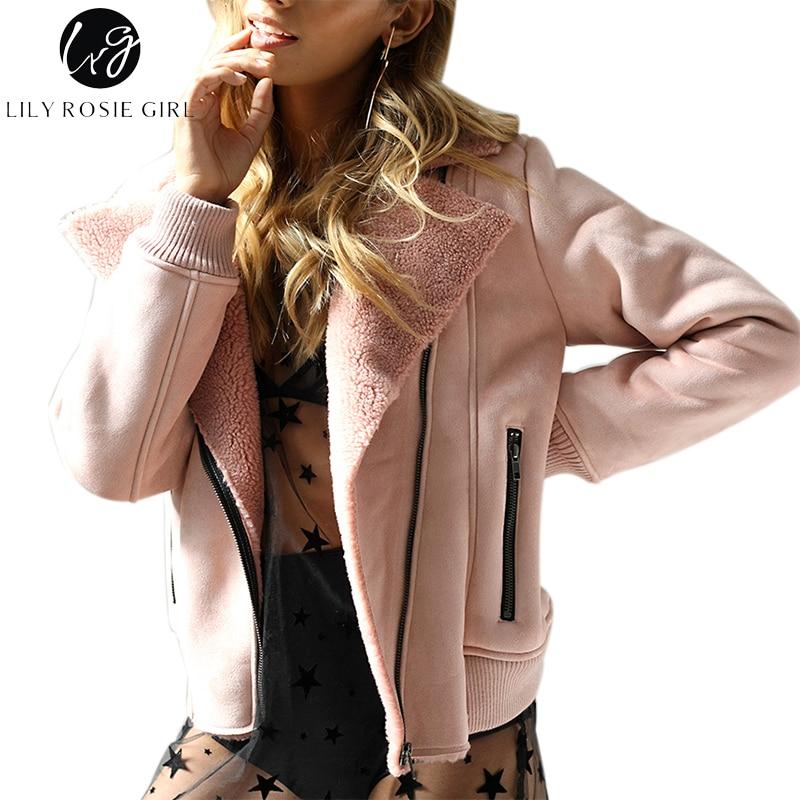 Лили Rosie девушка Повседневное розовый Мужские парки стеганые Куртки карман на молнии Для женщин Стеганое пальто осень 2017 г. зимняя верхняя о...