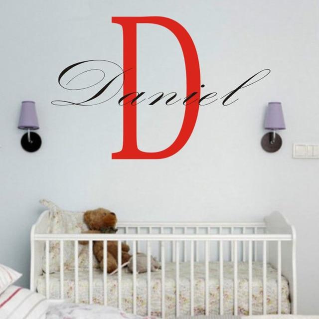 custom name wall decal personalized room childrens wall art custom
