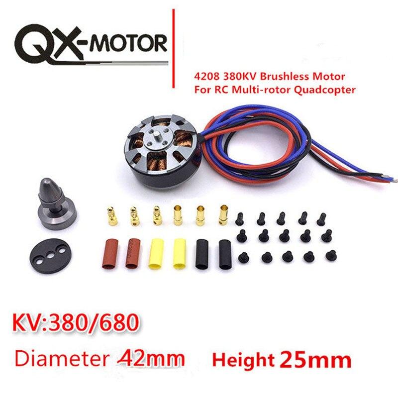 QX-MOTOR QM4208 380/580/680KV 3508 Motor Brushless Para RC Multirotor Quadcopter Zangão Hexa frete grátis