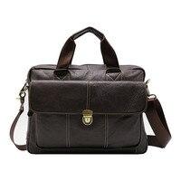 Genuine Leather Business Top handle Briefcase Handbag Men's Crossbody Shoulder Bag Men Messenger Bags 15 Laptop Computer Pack