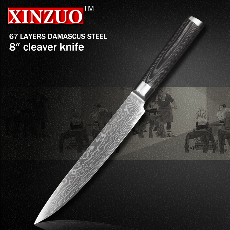 XINZUO 8 inch China Damascus kitchen font b knife b font cleaver font b knife b