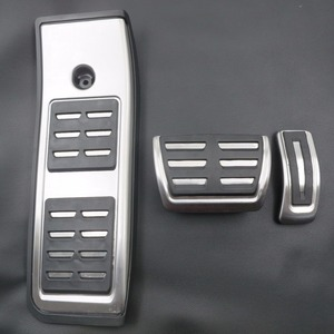TTCR-II Stainless steel Car Accessory for Audi A4 B9 2016 2017 2018 2019 AT LHD Foot Rest Gas Modify Pedal Decoration Plate Pad