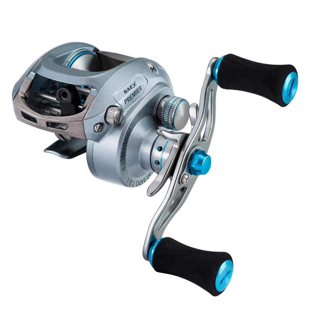 Piscifun Saex Premier Baitcasting Reel 7BB 7.3: 1 179g Right or Left Hand Bait Casting Fishing Reel-in Fishing Reels from Sports & Entertainment    2